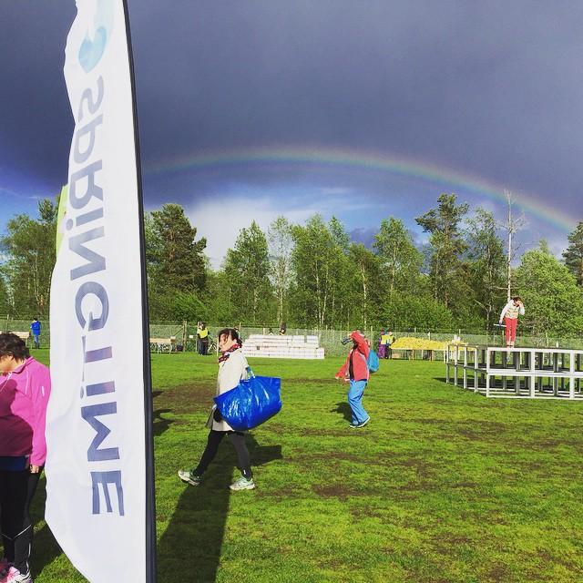 Regnbågen! Vilken dag! Sundsvall we love you. Foto: Joel Yderberg