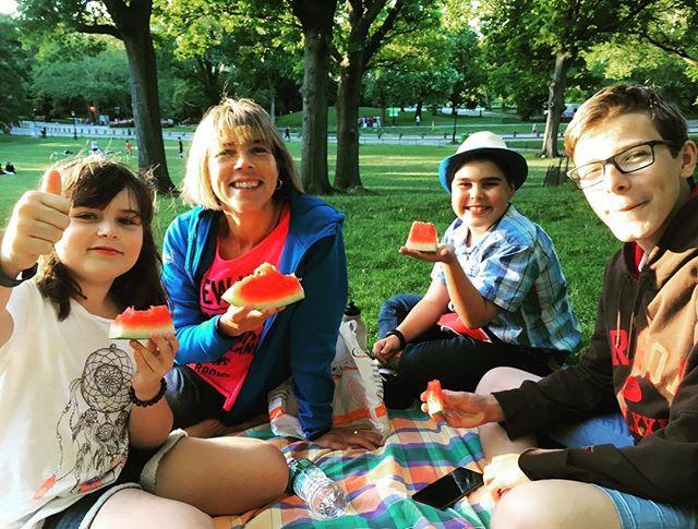 Picknick i Central Park. Läckert.