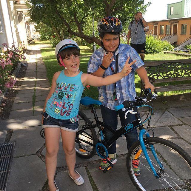 Dagens cykelhjältar. 1,6 mil tur och retur till Tekniska Museet. @tekniskamuseet