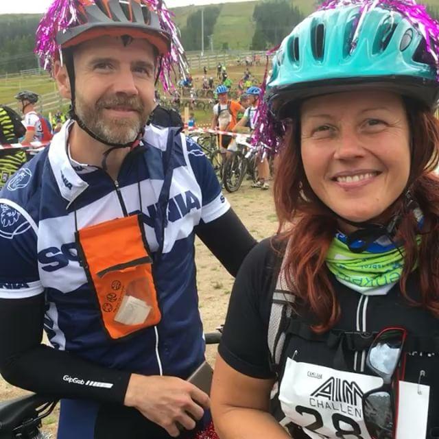 Fia och Johan i liten intervju. (Hela finns på Facebook) Bästa tipsen: Träna cykling, skaffa kartläsare och ha kul! @aimchallenge