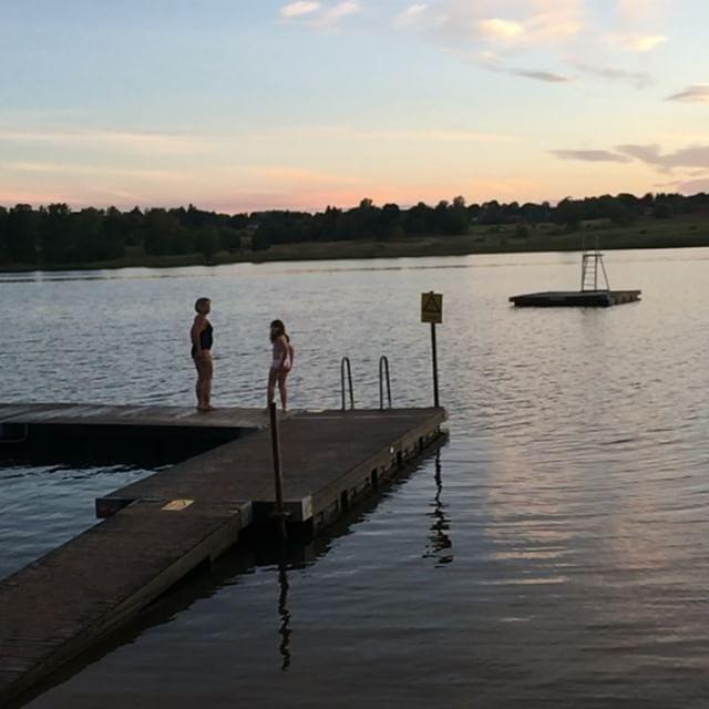 Hoppdopp! Afterrun. Runswim. Kanske sommarns sista. Lite nippy!
