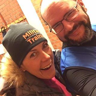 Gunnar har löptränat med @marathonmia13 ! Och blev så här glad. Såklart.