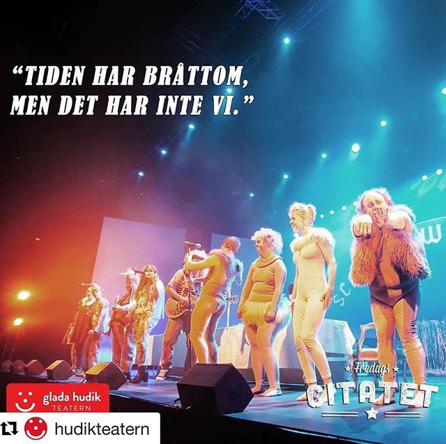Exakt. Man kan välja hur bråttom man vill ha i livet. @hudikteatern - bästa fredagscitaten ever. ️️️