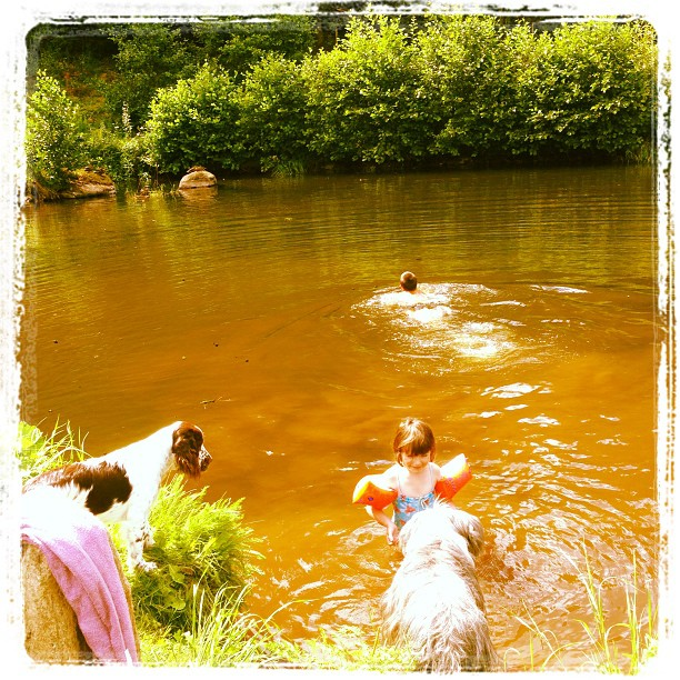 Barnen som kunde bada med jyckar.