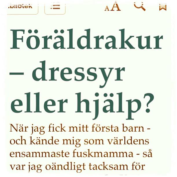 Föräldrakurs - dressyr eller hjälp? Ur Familj. Dagens gratisbok.