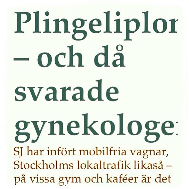 Plingeliplong. Och då svarade gynekologen! True story. Dagens gratisbok. Vett & Etikett.