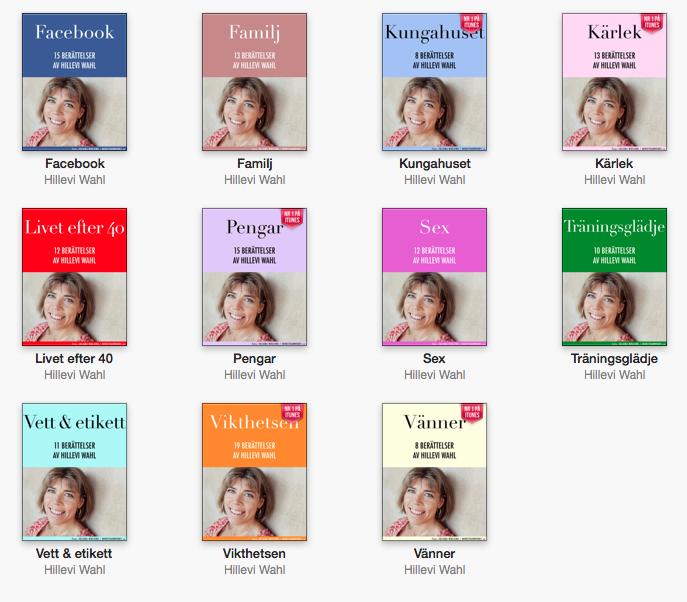 Elva böcker av Hillevi Wahl