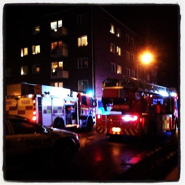 Lite dramatik utanför hotellet i Karlskrona. Som lite extra fireworks efter en magisk föreläsningskväll. Tack alla underbara!