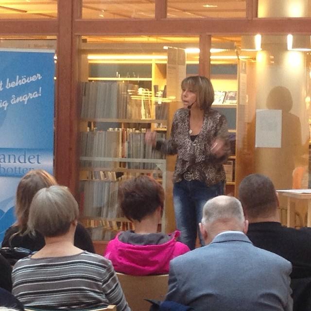 Actionbild från Umeå bibliotek.