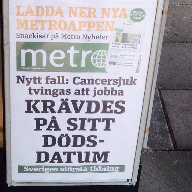 Glöm inte att läsa Metro i dag.
