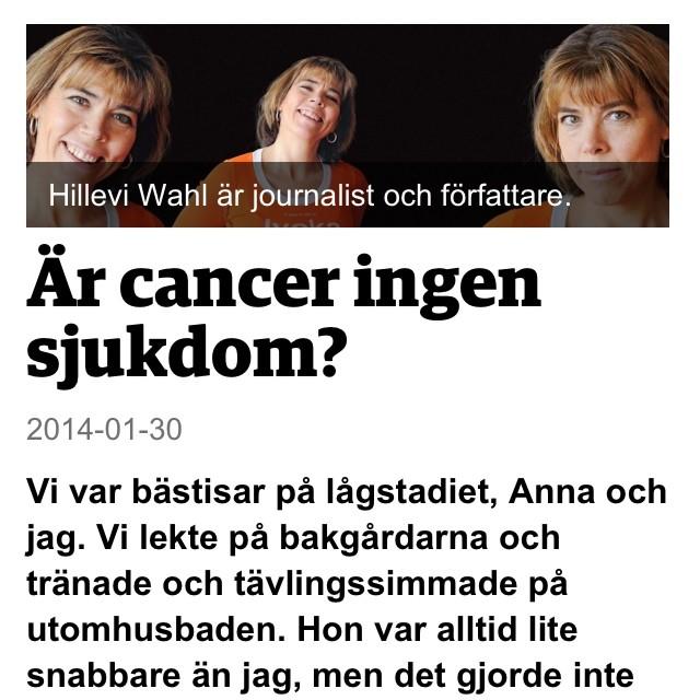 TV4 Nyhetsmorgon kl 07.45. Då berättar Anna och jag om hur Försäkringskassan sviker cancersjuka när de har som svårast.