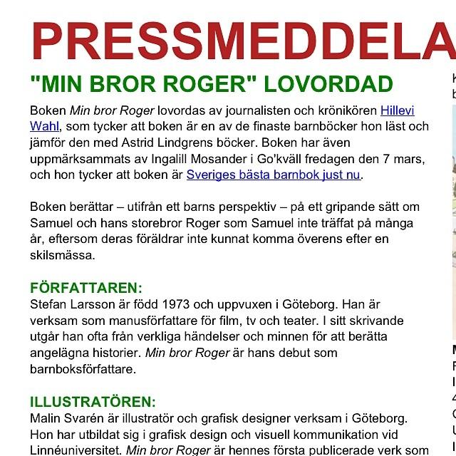 Jag säger ju det. Sveriges bästa barnbok just nu.