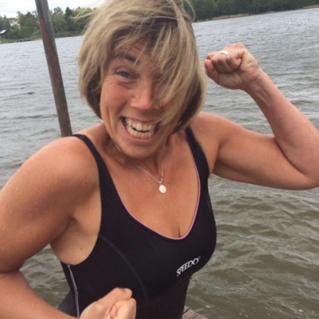 Jag var först i vattnet!