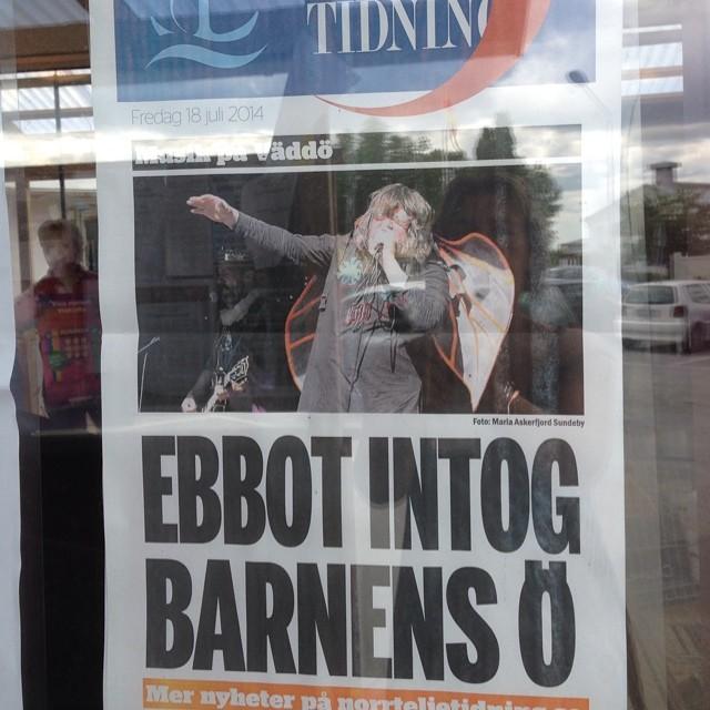 Bra löp, Norrtelje Tidning. Precis så var det.
