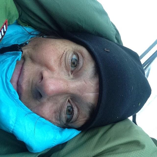 Ja gonatt då! Påminn mig om att aldrig mer sova i tält på fjället. Det är kallt.