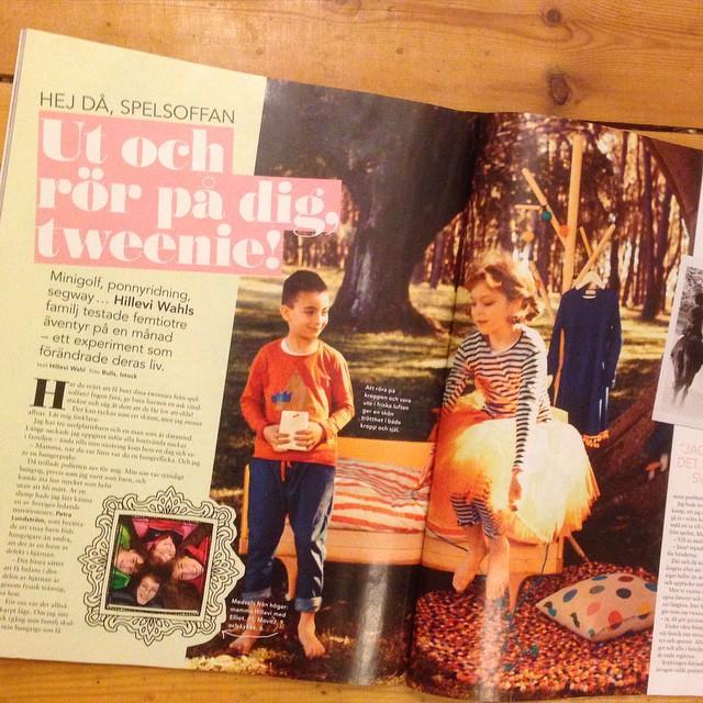 Missa inte mitt fina tweenie-reportage i mama nr 2/2015! Fyra sidor tips om hur man får upp kidsen ur spelsoffan.