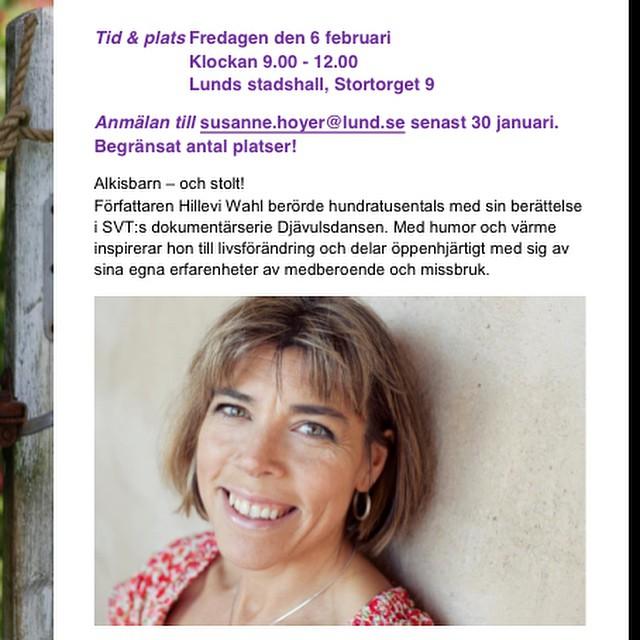 Alkisbarn - och stolt! På fredag föreläser jag i Lund. Det kan finnas platser kvar. Vänder sig framför allt till skolpersonal och er som jobbar med barn och unga.