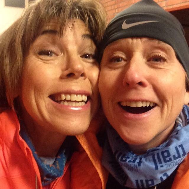 Äntligen dags för springskola med Team Nordic Trail. Och kolla vem som var där. Bästa Åsa! Kärlek!
