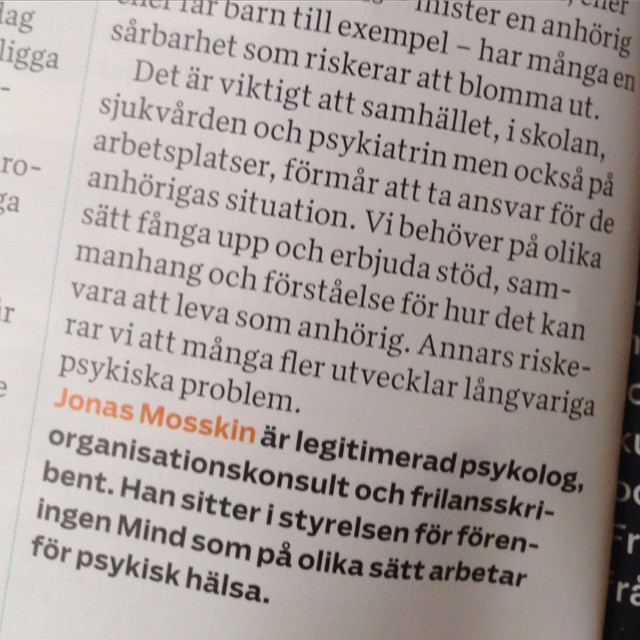 Jonas Mosskin i Modern Paykologi. Mycket mycket bra!