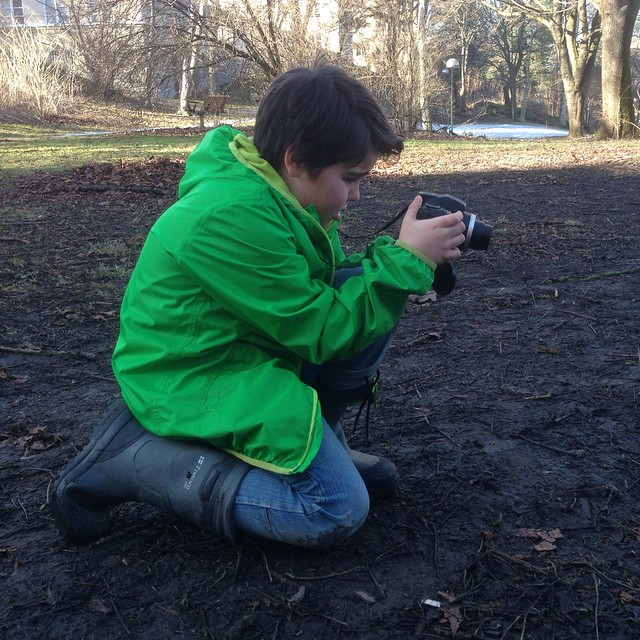 Naturfotograf in action.