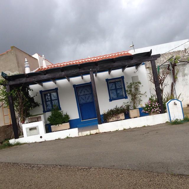 Lilla blå huset på prärien.