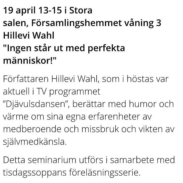 Malmö! Missa inte föreläsningen i morgon på St Johannes! Min gamla konfirmationskyrka. Det kan bli omtumlande. Varmt välkomna.