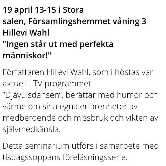 Malmö! På söndag föreläser jag i St Johannes församlingshem. Min egen konfirmationsförsamling. Kan bli omtumlande. Kom!