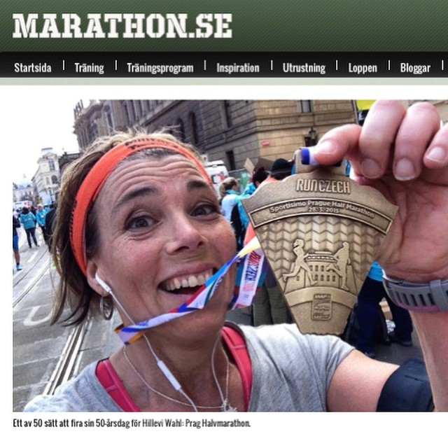 Nu även på Marathon.se! http://www.marathon.se/aktuellt/hillevi-firar-50-med-50-lopp