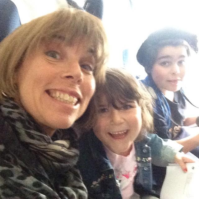 På flyget mot Portugal. Geting excited!