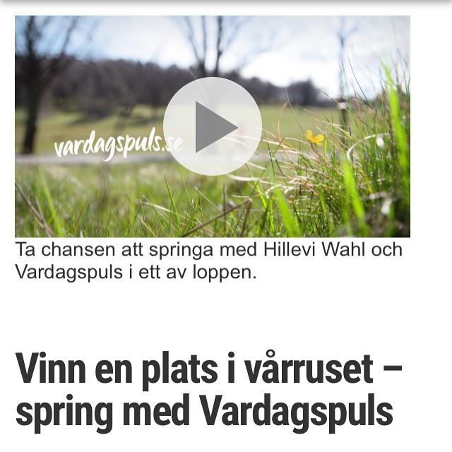 Ni kan fortfarande vinna närmare hundra startplatser i Vårruset som har 18 lopp över hela Sverige! Gå in på Vardagspuls.se och spring med mig! Alla kan. Gå, jogga, spring! Och få chansen att vinna en träningsresa i höst. Våga! Http://www.vardagspuls.se/tavling/tavling-varruset/