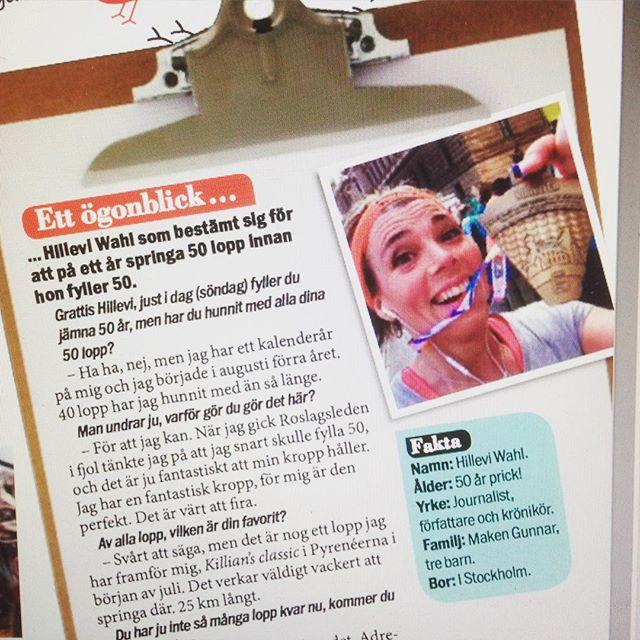 Hoppla! Där dök jag upp i Aftonbladets söndagsbilaga! Kul!