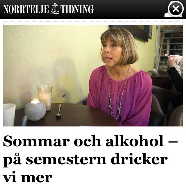 I dag pratar jag sommardrickandet och längtan i Norrtelje tidning.