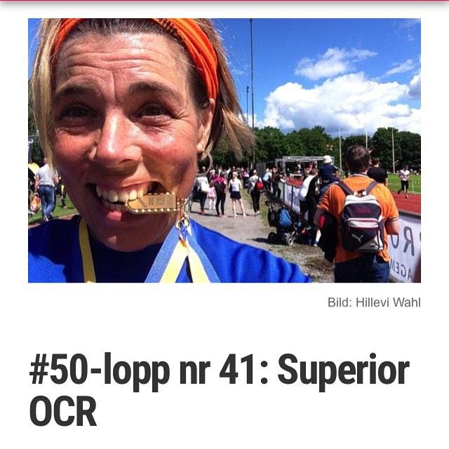 Lopp nr 41: Superior. Med filmen! http://www.vardagspuls.se/bloggar/hillevi-wahl/50-lopp-nr-41-superior-ocr/