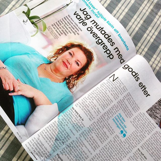 Så himla fin intervju med dig i Allas, Karin Svärd! Hurra för dig och Lukas.
