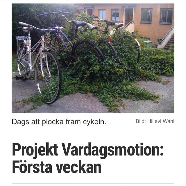 Dags att plocka fram cykeln! Liten rapport från första veckan och Projekt Vardagsmotion. #walk-and-talk