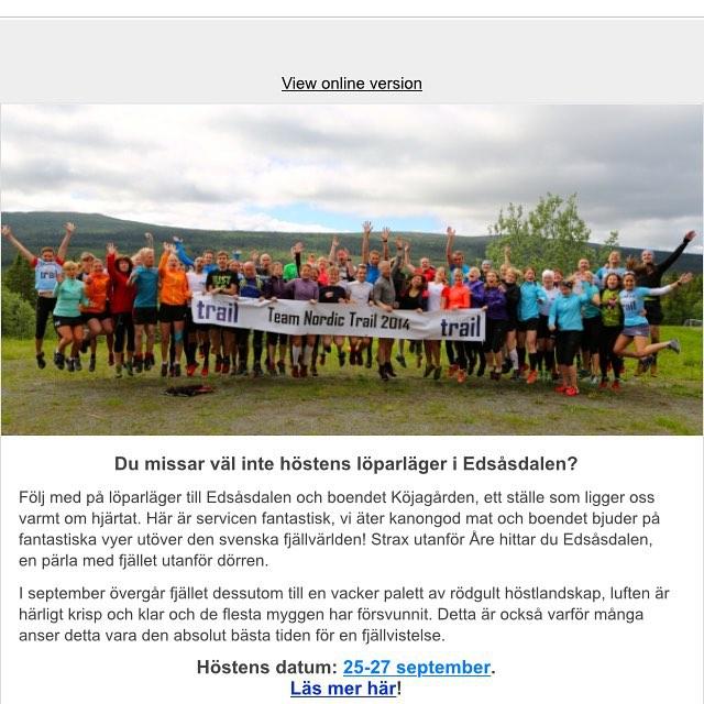 Edsåsdalen med Team Nordic Trail! Here I come! Häng med vetja!