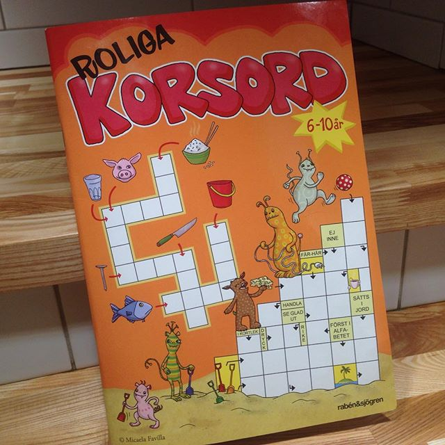 Sjuåringens absoluta favoritsysselsättning just nu. Tokbra presenttips! 39 spänn på Bokus!