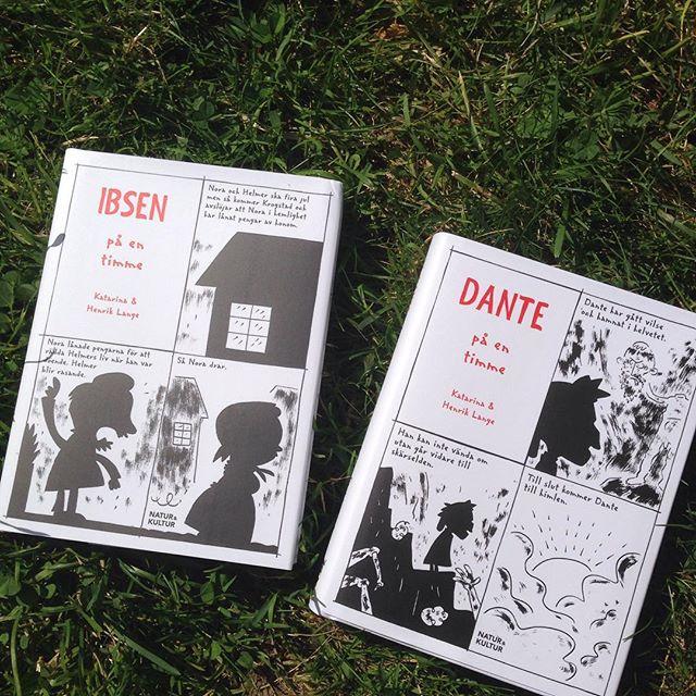 Underbart ju! Jag som ska läsa klassikerna den här sommaren. Här får jag Ibsen och Dante på en timme! Och har roligt medan jag tittar på teckningarna. #natur&kultur