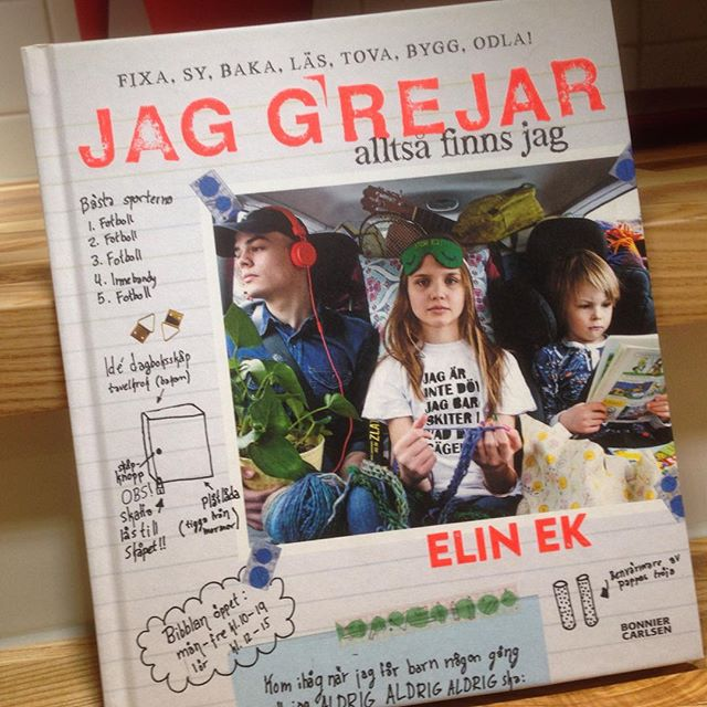 Dagens boktips! Och presenttips till alla ungar som fyller år. Jag grejar alltså finns jag - av Elin Ek. Ja, den Elin Ek som i Grynet. Så himla härlig gör-det-själv-kul bok om att greja och fixa, bala och läsa, bygga och odla. (Semic förlag)