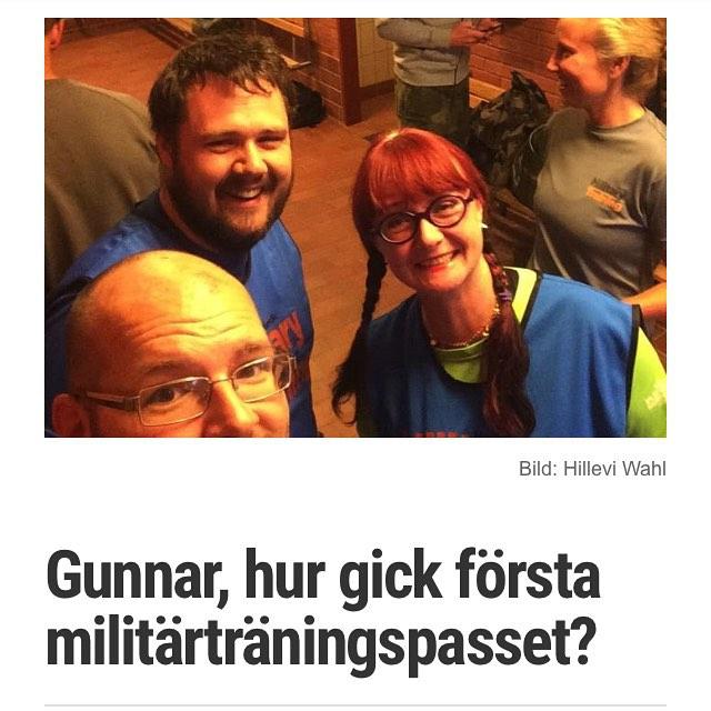 Liten miniintervju med Gunnar efter första NMT-passet.