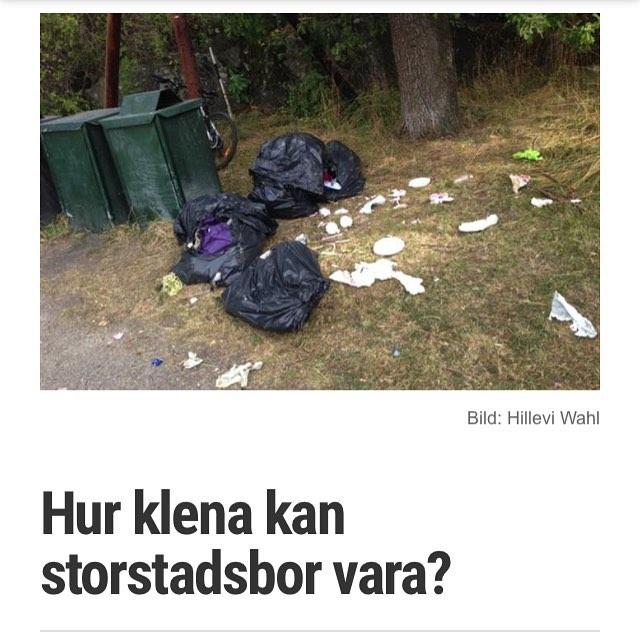 Skräpet, skräpet, skräpet. Http://www.vardagspuls.se/bloggar/hillevi-wahl/hur-klena-kan-storstadsbor-vara/