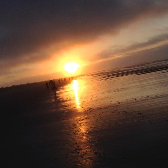 Morgonjogg. Soluppgång. Så vackert.