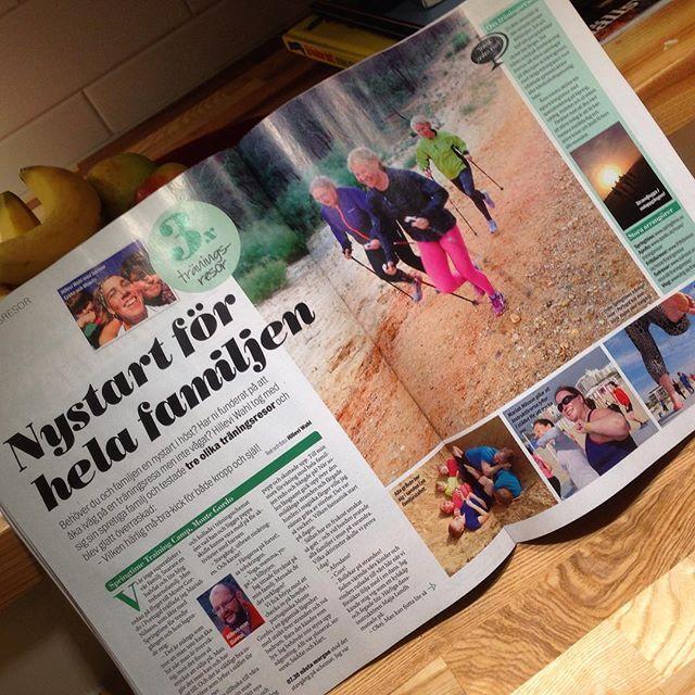 Nystart för hela familjen.Fyra sidor roliga tränings- och äventyrsresor för hela familjen. Aftonbladet Söndag 25/10.