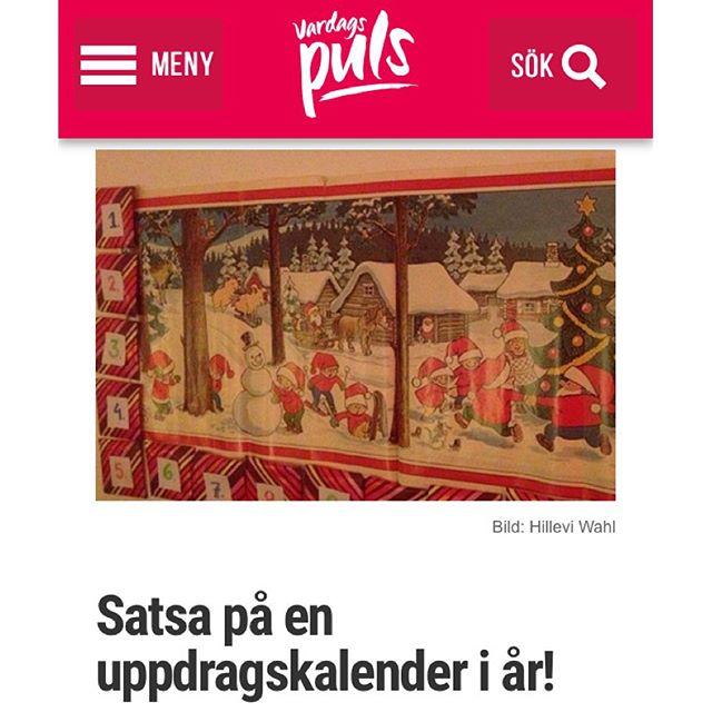 Satsa på en uppdragskakender i år! Mycket roligare än alla andra kalendrar. Hur skulle din drömkalender se ut? Http://www.vardagspuls.se/bloggar/hillevi-wahl/satsa-pa-en-uppdragskalender-i-ar/