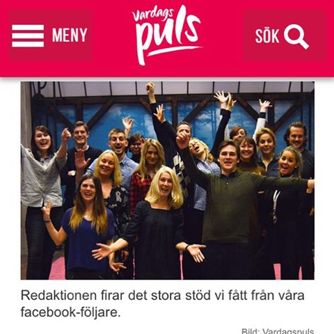 Vsrdagspuls är störst! Tjohoo! Http://www.vardagspuls.se/nu-ar-vi-storst-pa-facebook/