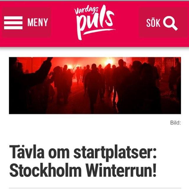 Glöm inte att tävla om startplatser till vinterns roligaste lopp! Http://www.vardagspuls.se/bloggar/hillevi-wahl/tavla-om-startplatser-stockholm-winterrun/