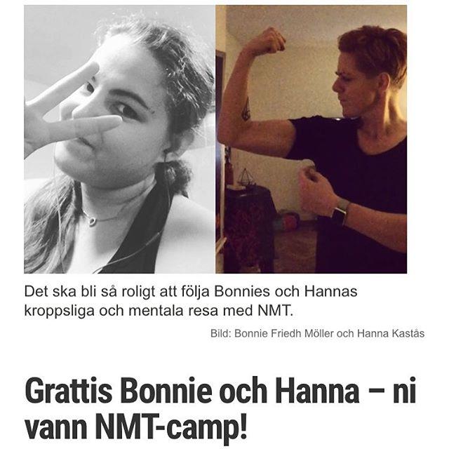 Grattis @missbrilliott och @hannaka - ni vann NMT-camp. Nu blir det roligt på allvar! @nordicmilitarytraining http://www.vardagspuls.se/bloggar/hillevi-wahl/grattis-bonnie-och-hanna--ni-vann-nmt-camp/