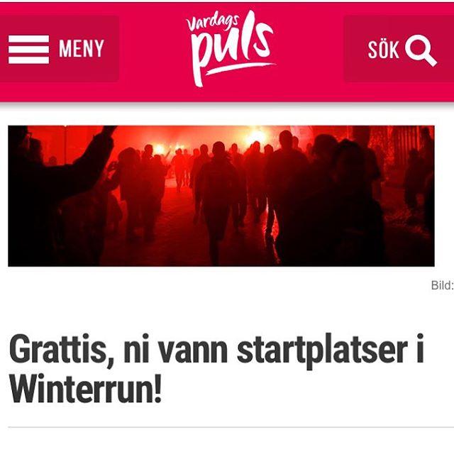 Grattis! Här är alla vinnarna till startplatser i Winterrun. Http://www.vardagspuls.se/bloggar/hillevi-wahl/grattis-ni-vann-startplatser-i-winterrun/