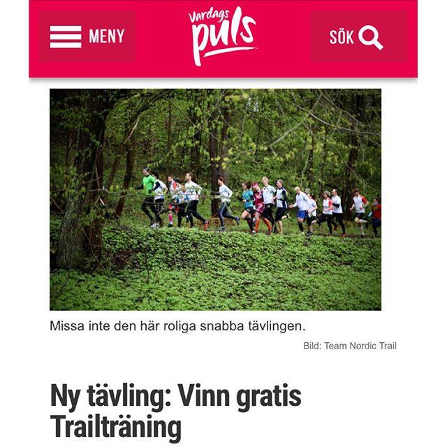 Ny snabbtävling! Vinn tre månaders löpträning med Team Nordic Trail! Men skynda! Senast 20 december vill jag ha bidragen. Läs mer här. Http://www.vardagspuls.se/bloggar/hillevi-wahl/ny-tavling-vinn-gratis-trailtraning/