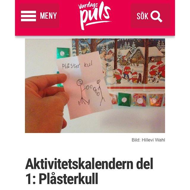 Plåsterkull blir ännu roligare med pannlampa! Http://www.vardagspuls.se/bloggar/hillevi-wahl/aktivitetskalendern-del-1-plasterkull/